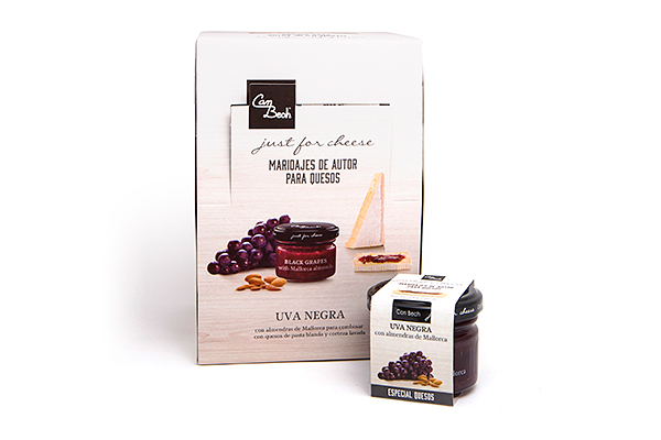 Display Salsa de Uvas Negras con Almendras Laminadas