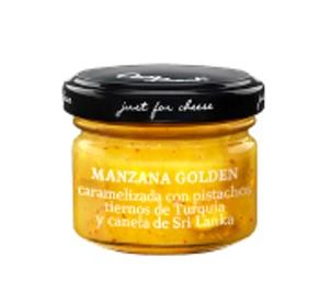 Manzana Golden Caramelizada con Pistachos Tiernos de Turquía y Canela de Sri Lanka